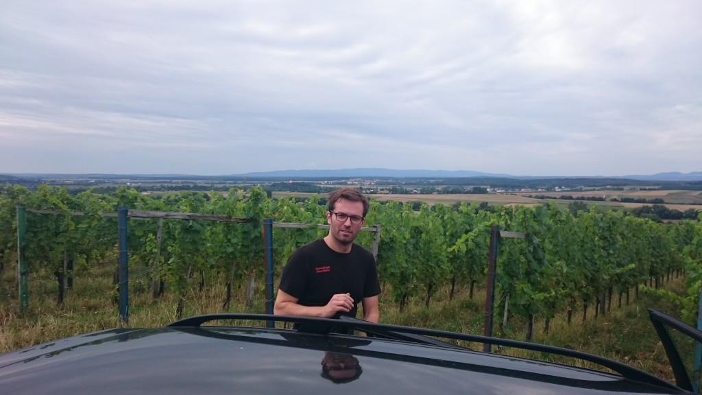 Franz vor Auto